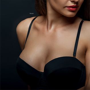 Woman showing cleavage