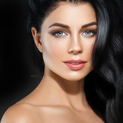 Beautiful woman with nice skin